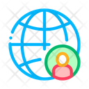 Planet Glob Man Icon