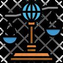 International Law International Law Justice Globe Grid Icon