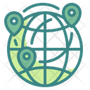 International Location International Delivery Location Worldwide Icon
