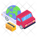 Global Delivery Global Logistics Worldwide Delivery Icon