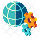Management Globalization Process Icon