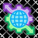 Sphere Mechanical Gear Icon