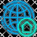 Globe Home World Icon