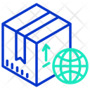 International Package International Courier International Box Icon