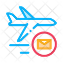 Airplane Delivery Postal Icon
