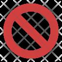 Prohibition Sign No Icon