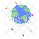 Global Shopping Worldwide Shopping International Shopping Icon