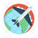 International Travel Global Travel Word Tour Icon