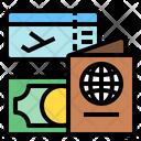 Passport Ticket Money Icon