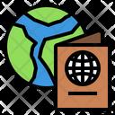 Passport Globe Vacation Icon