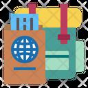Passport Travel Bag Bag Icon