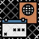 Calendar Day Passport Icon