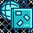 Travel Blue Baggage Icon