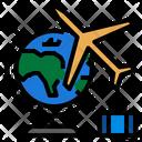 Travel Globe Airplane Icon