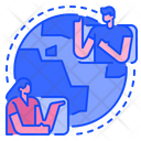 International Video Call Video Call Video Conference Icon