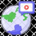 International Video Chat Icon