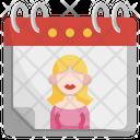 International Womens Day Women Calendar Icon