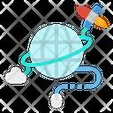 Internet Data Cloud Icon