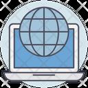 Business World Laptop Icon