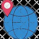 Globe Location Map Icon