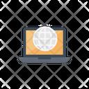 Internet Webpage Laptop Icon