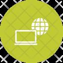 Internet Communication Laptop Icon