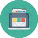 Internet Laptop Layout Icon