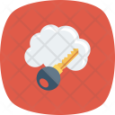 Internet Key Cloud Icon