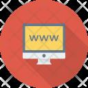 Internet Monitor Online Icon
