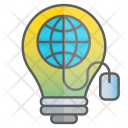 Internet Idea Intelligence Icon