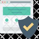 Internet Password Security Icon