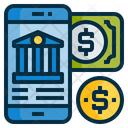 Mobile Internet Banking Icon