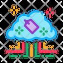 Label Internet Cloud Icon