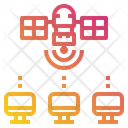 Communication Satellite Computer Icon