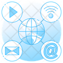 Internet Connection Global Connection Global Communication Icon