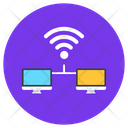 Computer Internet Connected Devices Connected Network Icon