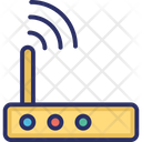 Internet Device Internet Signals Modem Antenna Signals Icon