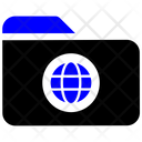 Folder Global Folder Global Icon