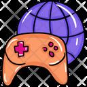 Internet Gaming Worldwide Games Online Video Game Gamepad Icon