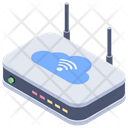Cloud Network Hub Network Connection Internet Hub Icon