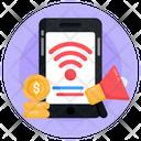 Mobile Wifi Internet Marketing Mobile Marketing Icon