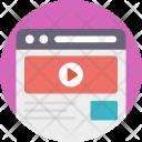 Online Video Platform Icon