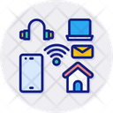 Internet Of Things Smart House Iot Icon