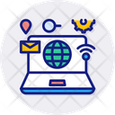 Internet Of Things Home Office Icon