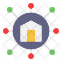 Internet Of Things Home Protection Connection Icon