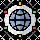 Internet Of Things Data Roaming Globe Icon