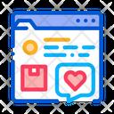 Review Internet Shop Icon