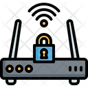 Internet Router Security Icon
