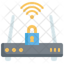 Internet Router Security Router Lock Internet Lock Icon
