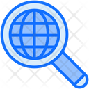 Internet Search Global Search Worldwide Research Icon